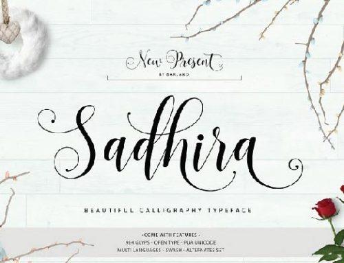 Free Sadhira Typeface