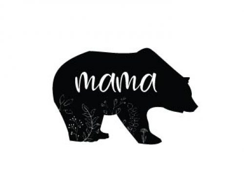 Free Mama Bear Silhouette SVG
