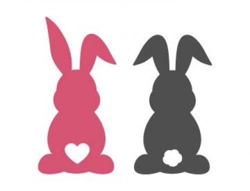 Easter Bunny Silhouette Svg