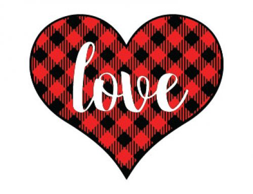 Free Love Buffalo Plaid Svg
