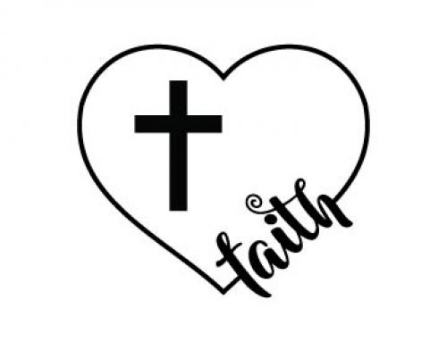 Heart With Faith Svg