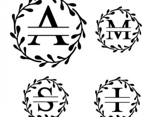 Split Letter Monogram Svg